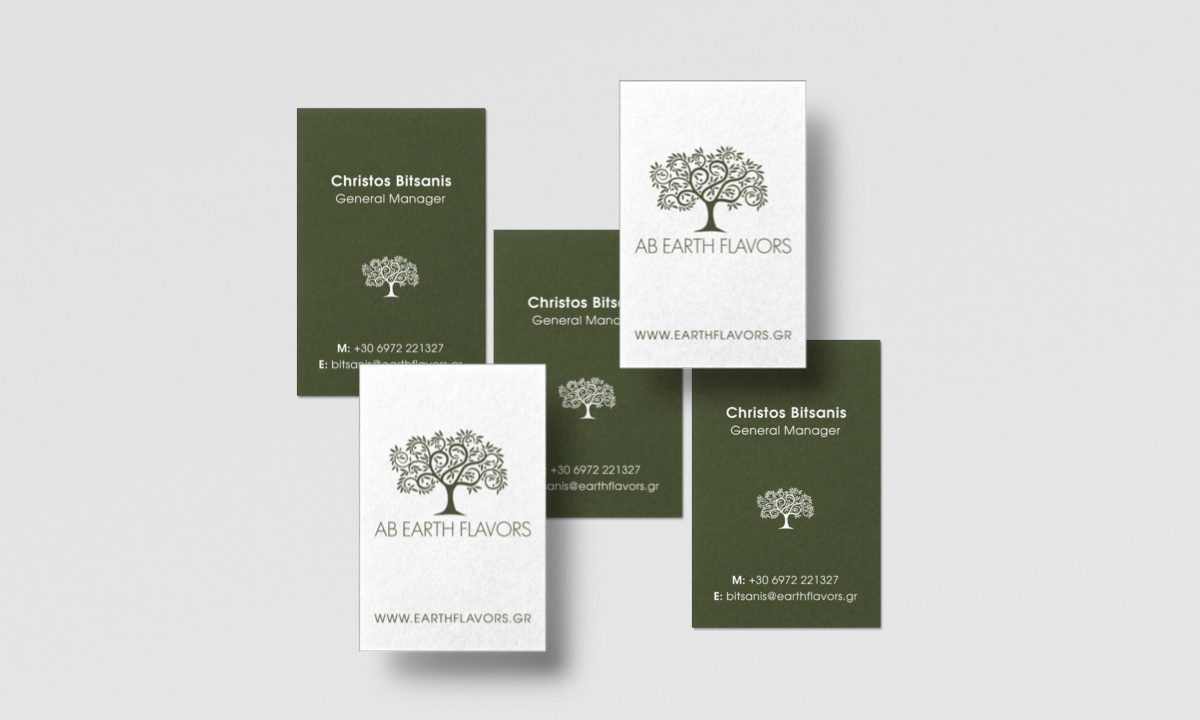 earthflavors business cards