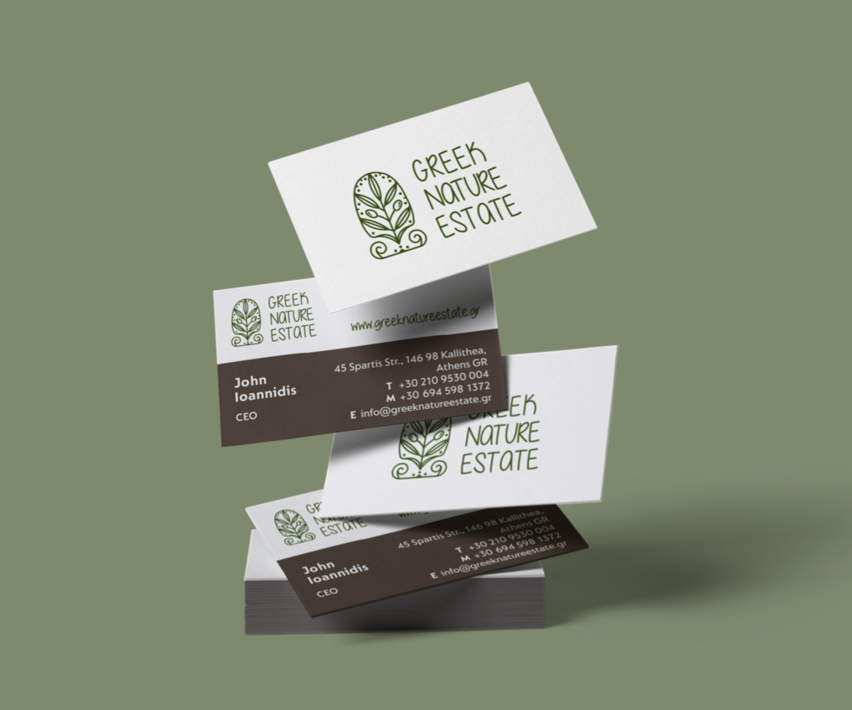 business cards Greek Nature Estate